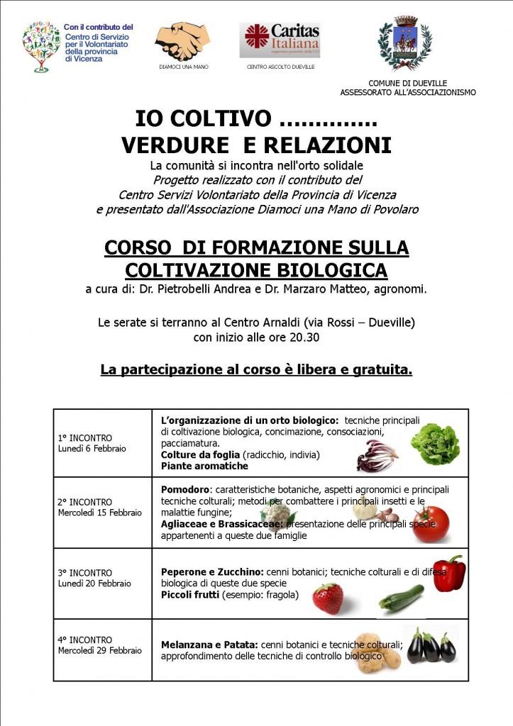 Corso gratuito di agricoltura biologica a Dueville