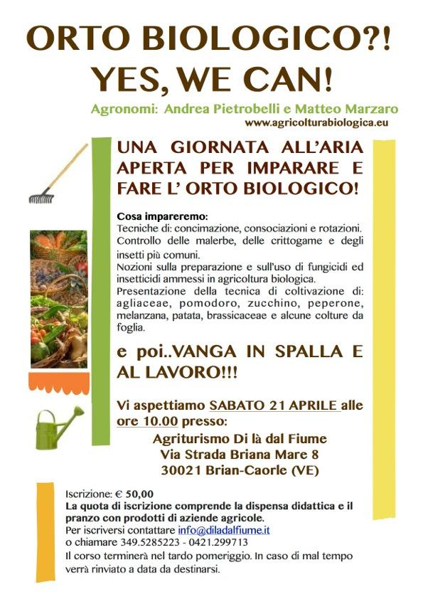 Corso orto biologico a Caorle Venezia