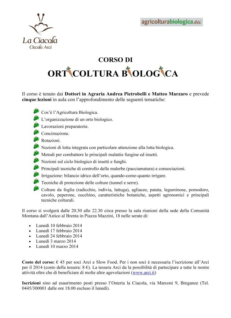 Corso di orticoltura biologica a Breganze