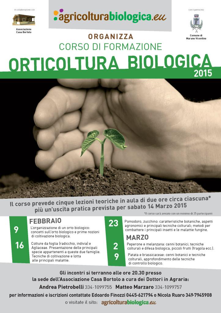 riprendono i corsi di orticoltura biologica a Marano Vicentino con gli agronomi Andrea Pietrobelli e Matteo Marzaro.