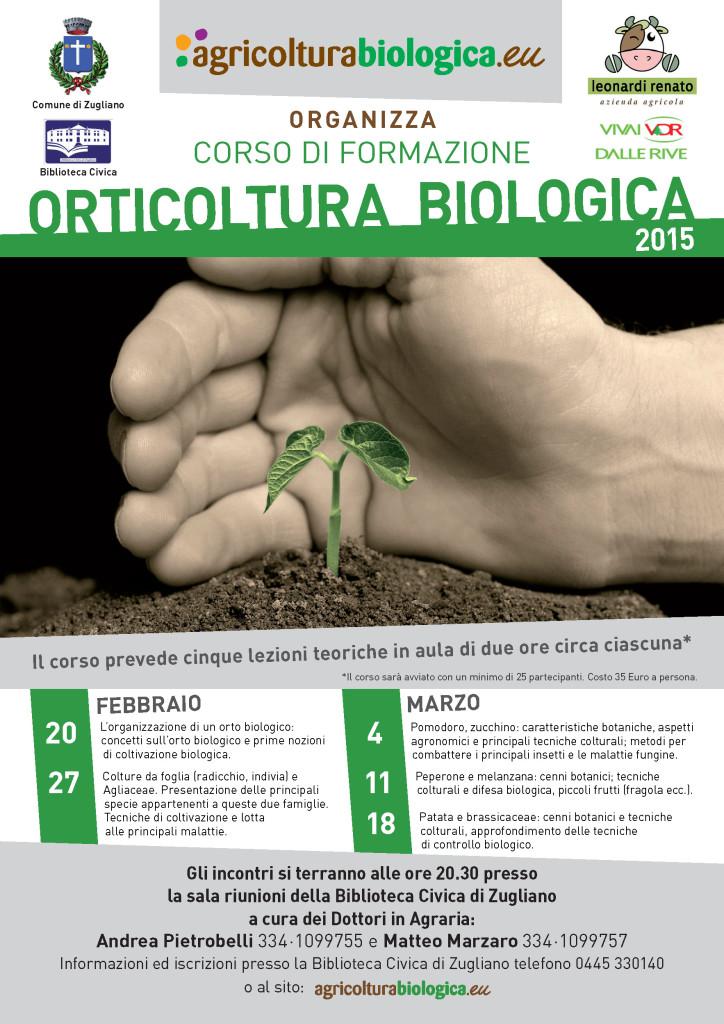 Zugliano 2015, corso di Orticoltura biologica organizzato dal Comune e tenuto dagli agronomi Andrea Pietrobelli e Matteo MArzaro